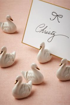 Swan Place Card Holders (6) in Décor Signage at BHLDN