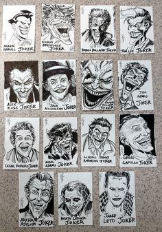 2017 - The Joker Sketch Cards project (roughs) #arielsartwork #joker #thejoker #dc #dccomics #comics #nonphotobluepencil #pencil #pen #marker #ink #sketch #drawing #illustration #art #markhamill #normbreyfogle #brianbolland #jimlee #alexross #jacknicholson #frankmiller #jimaparo #cesarromero #nealadams #jerryrobinson #gregcapullo #arkhamasylum #heathledger #jaredleto