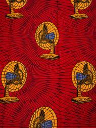 African Textiles Real Wax Print Red Air Fans Ankara Fabric Wholesale rw2324306