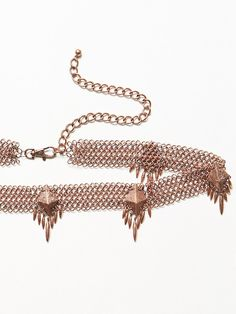 Exclusive Rose Gold Stone Cold Fox x Luv AJ  Lennon Belt at Free People