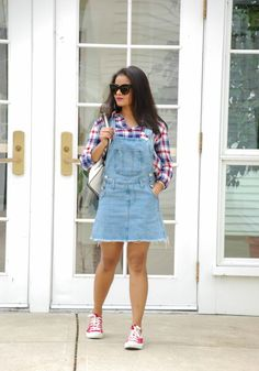 Brandy Melville overalls, plaid shirt, street style, celine sunnies, kensie backpack, converse sneakers, zara  giveaway, theVane app, Love Playing Dressup, Fall fashion, blogger