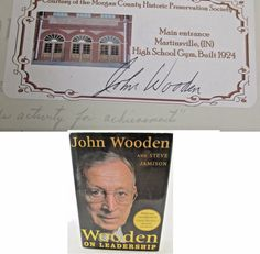 John Wooden on Leadership AUTOGRAPHED SIGNED LEGENDARY UCLA COACH 1st ED Book.  Available at BooksBySam.com