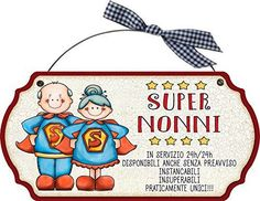 Buona Festa dei Nonni 2018: Immagini, frasi, Auguri - WhatsApp Web - Whatsappare Art For Kids, Crafts For Kids, Superhero Birthday Party, Country Paintings, Grandparents Day, 3d Paper, Wooden Signs, Coloring Books, My Books