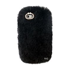 COZY FUR PHONE CASE BLACK ($30) ❤ liked on Polyvore featuring accessories, tech accessories, phone cases, phone, black and cases