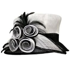 4917a1fd02c Black and White Hat - For the Mother of the Bride. I just couldn