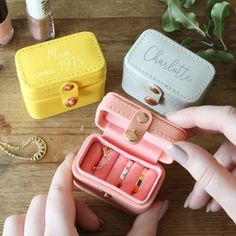 Personalised Mini Travel Ring Box by Lisa Angel, the perfect gift for Explore more unique gifts in our curated marketplace. Jewelry Case, Cute Jewelry, Jewelry Box, Jewelery, Accesorios Casual, Travel Jewelry, Cool Things To Buy, Stuff To Buy, Travel Bag