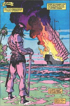 Conan the Barbarian by John Buscema Conan The Barbarian Comic, Conan O Barbaro, Conan The Destroyer, Conan Comics, John Buscema, Roman, Dungeons And Dragons Characters, Walker Art, Comic Book Pages