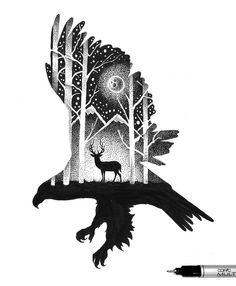 'THE EAGLE AND THE DEER', 2016. Have a great weekend! :)