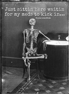 Rheumatoid Arthritis, Lupus Fibromyalgia - I often feel like I'm waiting for my meds to kick in Chronic Migraines, Chronic Fatigue, Chronic Illness, Rheumatoid Arthritis Quotes, Chronic Pain Quotes, Vegan Humor, Vegan Funny, Vegetarian Funny, Myasthenia Gravis