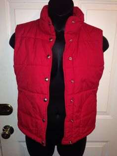 Women's Red NORTHFACE Winter Bubble Vest EUC Sz Small #TheNorthFace #Vest