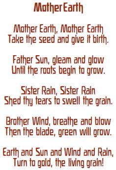 mother earth... the verse accompanied by pentatonic flute in K's 1st grade class.