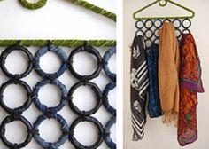 DIY organizador de pañuelos ♥ Scarves organizer
