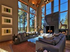Mountain Modern Great Room in Truckee CA