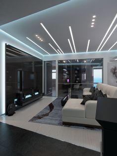 Nadire Atas on Bella Casa Design Interior Ceiling Design, House Ceiling Design, Ceiling Design Living Room, Bedroom False Ceiling Design, Ceiling Light Design, Home Ceiling, Home Room Design, Living Room Designs, Flur Design