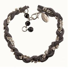 Friendship Suede Braid Bracelet - Grey in blake & fox's store on Consignd - $35.00