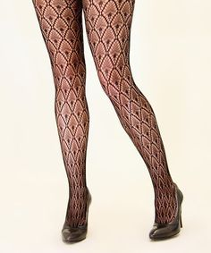 Look what I found on #zulily! Black Snake Fishnet Tights by Eye Candy #zulilyfinds