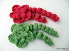 CROCHET FLOWER PATTERN Flower With Curls Diy by LyubavaCrochet