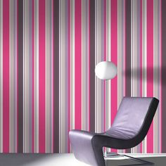 Give your walls a fresh lift with the stylish Fresco Rico Stripe Hot Pink Wallpaper from Graham and Brown. This colourful design features alternating stripes in varying widths in vibrant shades of hot pink, purple and mink. Hang vertically or horizontally for a stunning effect. Buy this design now for just £7.99 per 10m roll from The Range Online.