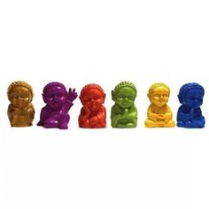 Kit Molde 6 Budinhas para Chaveiro Ref-781 Movie Posters, Plaster Art, Statue Of, Incense, Colouring In, Key Chains, Embellishments, Buddha, Buddhism