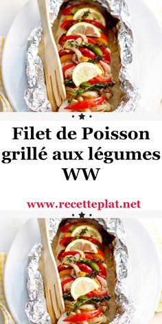 Filet de poisson grillé aux légumes WW Today a recipe that I make very often with fish, Grilled fish Plats Weight Watchers, Weight Watchers Points, Weight Watchers Meals, Grilled Fish Fillet, Weigh Watchers, Coco, Snacks, Healthy Recipes, Ethnic Recipes