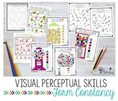 VISUAL PERCEPTION:Form Constancy activities can be beneficial especially for the school setting with handwriting. Visual Motor Activities, Visual Perceptual Activities, Activities For Adults, Vision Therapy, Ot Therapy, Pediatric Occupational Therapy, Visual Memory, Perception, Kids And Parenting