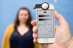 Luxi - at the Photojojo Store. An incident light meter dome + app that uses the iPhone's front facing camera.