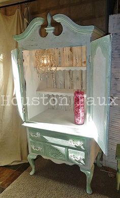 LOVE THE STYLE, TOTALLY SOMETHING I'LL HAVE TO HAVE COMMISSIONED! Shabby Chic Armoire /  Highboy