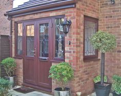 Rosewood pvcu doors and windows complete this porch supplied and installed by Unicorn Windows Ltd of Leighton Buzzard, Bedfordshire