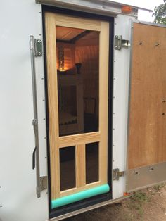 Custom Screen Door For Camping Pool Noodle Door Sweep Home Sweet pertaining to dimensions 1536 X 2048 Enclosed Trailer Screen Door - Along with your Utility Trailer Camper, Cargo Trailer Camper Conversion, Toy Hauler Camper, Cargo Trailers, Truck Camper, Camper Trailers, Converted Cargo Trailer, Trailer Diy, Trailer Remodel