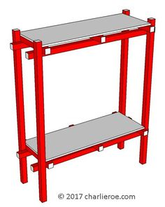 TDS - The Design Service - New Gerrit Rietveld Piet Mondrian style De Stijl side console table