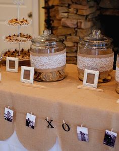 Kaitlyn & Tim: Our cookie bar for our wedding favors. Don't forget the single serving milk cartons
