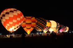 Morning glow at the Balloon Fiesta in Albuquerque, NM. Favorite family vacation/event now, a yearly must. Balloon Glow, Hot Air Balloon, Balloons, Albuquerque Balloon Festival, Albuquerque Balloon Fiesta, Air Ballon, Student Loan Debt, After Dark, Night Skies