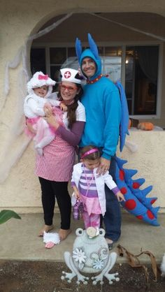 Our doc mc stuffins family costume (lambie, hallie, stuffie, and Doc) loved the way it all turned out