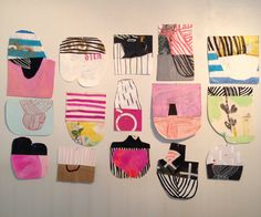 Paper collages by Sarah Boyts Yoder, 2013