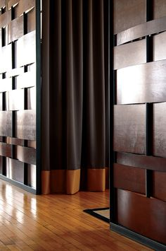 wood & steel basket weave detail /  Modern FAB