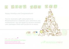 We have created a #FREE #Printable #Giftcard for those of you who are gifting a MommiesFirst Box this #Christmas!