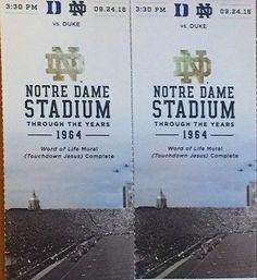 #tickets Notre Dame Fighting Irish Football vs Duke Blue Devils Tickets 09/24/16... please retweet
