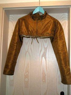 Antique Regency Empire Copper Silk Spencer with Frilled Neck CA 1815   eBay