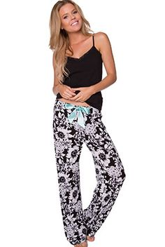 Contempo Paisley Print Long Pant - Bras N Things