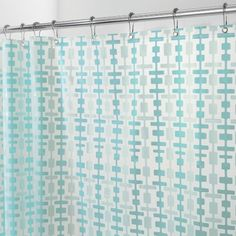 InterDesign Peva Helix Shower Curtain, 72 By 72 Inch, Aqua/Water