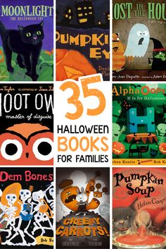 35 Books For Halloween 35 Books For Halloween 35 Halloween Books For Families A List Of The Spookiest Silliest And Most Creative Family Friendly Halloween Books Perfect For Kids Of All Ages 35 Halloween Books For Families Perfect For Read Aloud Halloween Activities For Kids, Halloween Costumes For Kids, Halloween Themes, Halloween Stories For Kids, Preschool Halloween, Preschool Books, Book Activities, Toddler Activities, Halloween Cat
