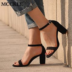 Chunky Heel Women Ankle Strap Gladiator Sandals – Inspirational Clothing and Accessories Lace Up Heels, Ankle Strap Sandals, Pumps Heels, Stiletto Heels, High Heels, Heeled Sandals, Ankle Straps, Leather Motorcycle Boots, White Ankle Boots