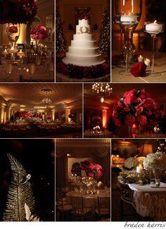 Wedding at Christmas time