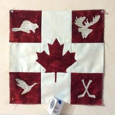 Bobbins is Country Patchworks. The girls are happy to get another Maple Leaf block! Hand Quilting Designs, Quilting Projects, Applique Designs, Christmas Quilt Patterns, Patchwork Quilt Patterns, Paper Piecing, Canadian Quilts, Quilts Canada, Crazy Quilt Blocks