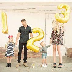 Baby family preggo pregnant announcement reveal picture idea - family of five