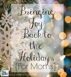Are the holidays full of more stress than joy? Do you want to find a way to enjoy the season instead of dreading it??