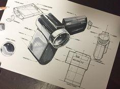 . #industrialdesign #drawing #sketchaday #sketch #makeasketch #sketching #pen…