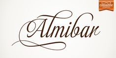 Almibar, Fonts by Corradine Fonts. Almibar is a delicate and very elegant connected script font. Its classic style is perfect to be applied in any type of formal pieces such invitations, labels and menus. Calligraphy Fonts, Typography Fonts, Script Fonts, Lettering, Great Fonts, New Fonts, Letter Case, Slab Serif, Font Face