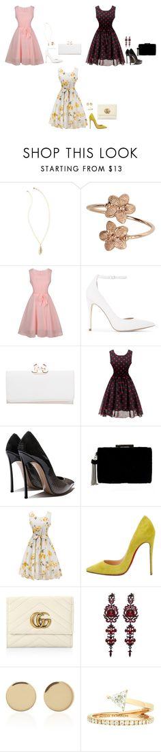 """Pink, Black or Yellow???"" by mprocedi on Polyvore featuring moda, Lilly Pulitzer, ALDO, Ted Baker, Christian Louboutin, Gucci, Magdalena Frackowiak e Delfina Delettrez"