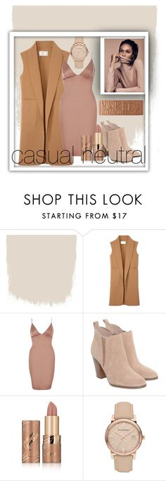 """""""casual neutral"""" by mylifeasreema ❤ liked on Polyvore featuring Alexander Wang, River Island, Michael Kors, tarte, Burberry and Urban Decay"""